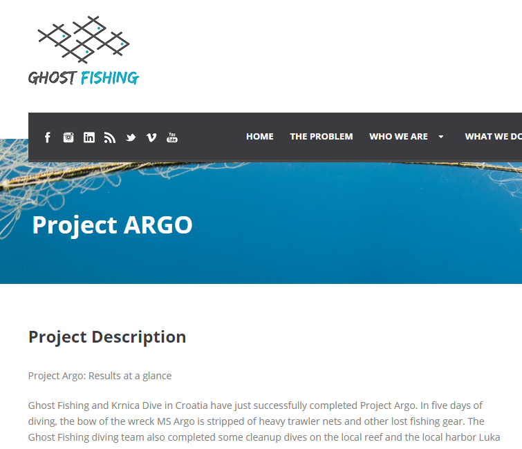 Ghost fishing project Argo